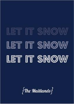 Let It Snow Fade Non-Photo Holiday Cards