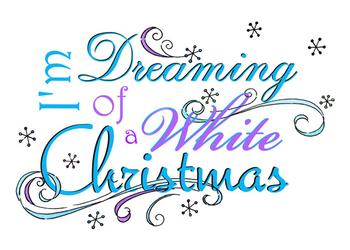 Dreaming Of A White Christmas Non-Photo Holiday Cards