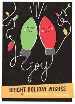 Joyful Lights Non-Photo Holiday Cards