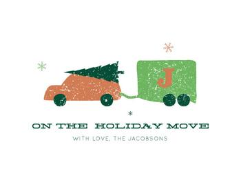On The Holiday Move Non-Photo Holiday Cards