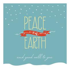 Peace & Good Will Non-Photo Holiday Cards