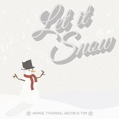 Let it snow snowman Non-Photo Holiday Cards