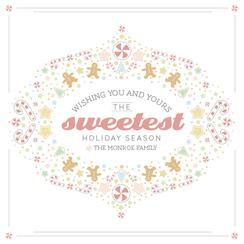Sweetest holiday season Non-Photo Holiday Cards