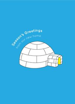 New Igloo Non-Photo Holiday Cards