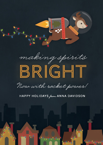 non-photo holiday cards - Now with Rocket Power by Dawn Jasper