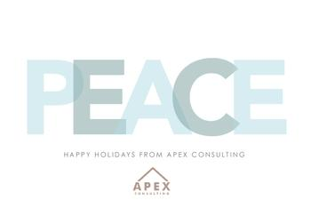 Modern Peace Business Holiday Cards