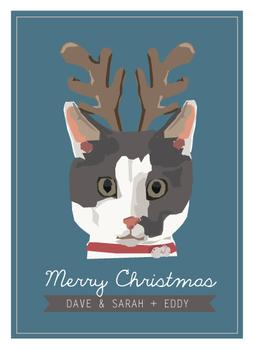 Christmas Cat Lover Non-Photo Holiday Cards