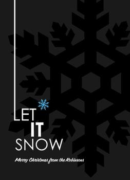 Xmas Silhouette - Let It Snow