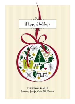 Ornamental Non-Photo Holiday Cards