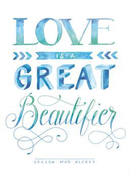 Love Beautifying in Watercolor