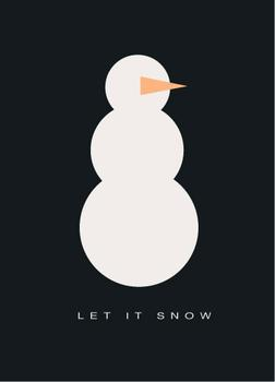 Let it Snow Snowman Business Holiday Cards