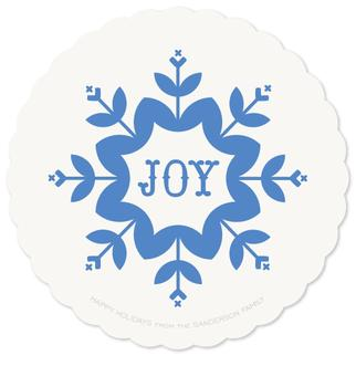 Wishes of Joy Non-Photo Holiday Cards