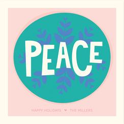 Spreadin' Peace Non-Photo Holiday Cards