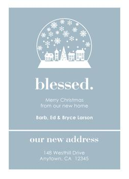 blessed house Non-Photo Holiday Cards