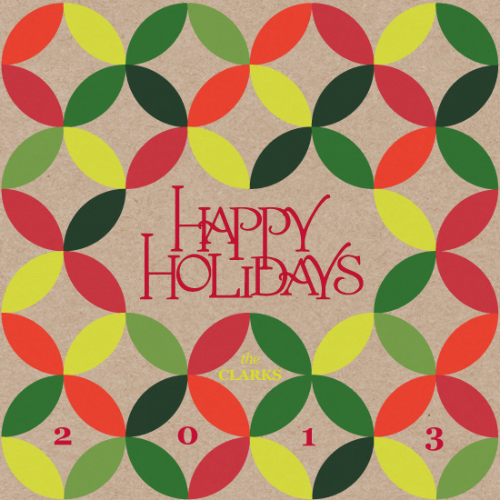 non-photo holiday cards - Patterned Holidays by Anna