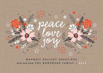 Joyful Tidings Non-Photo Holiday Cards