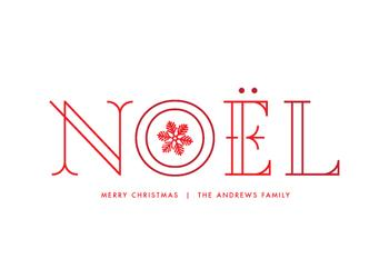 Noel Non-Photo Holiday Cards