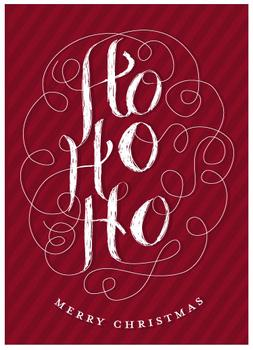Ho-Ho-Handlettering Non-Photo Holiday Cards