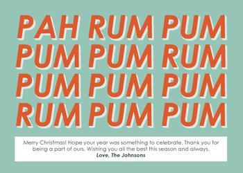 Pah Rum Pum Pum Non-Photo Holiday Cards