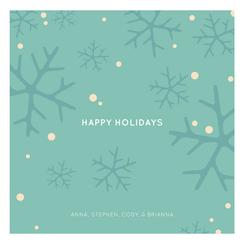 Holiday Flakes Non-Photo Holiday Cards