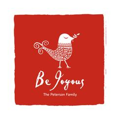 Be Joyous Non-Photo Holiday Cards
