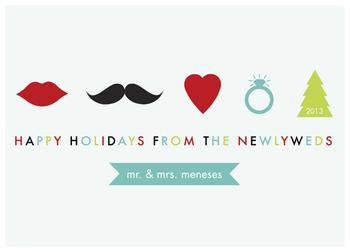 Hipster Love Non-Photo Holiday Cards