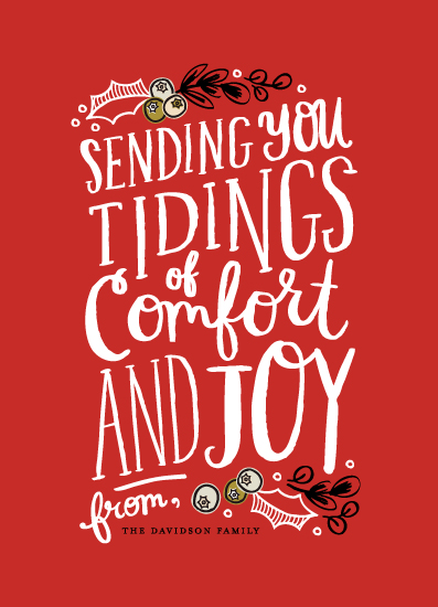 non-photo holiday cards - Comfort and Joy by Alethea and Ruth