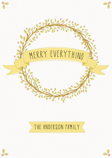 non-photo holiday cards - Merry Everything by Brie Zacher