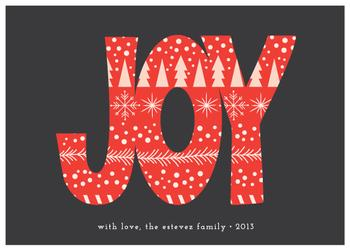 Patterned Joy Non-Photo Holiday Cards