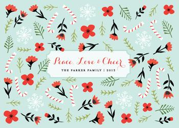 Candy Cane Love Non-Photo Holiday Cards