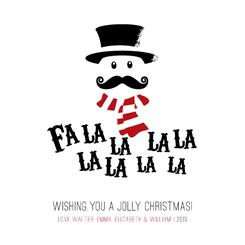 Fa La La La La Non-Photo Holiday Cards