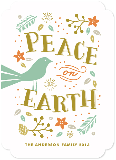 non-photo holiday cards - Tranquil Peace by Melanie Severin
