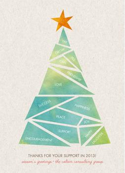 Success Tree Business Holiday Cards