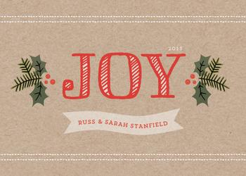 holly joy Non-Photo Holiday Cards