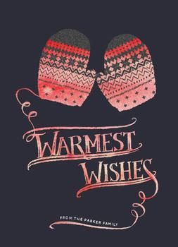 Warm Mittens Non-Photo Holiday Cards