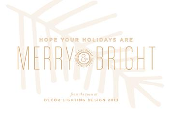 big and bright Business Holiday Cards