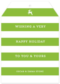 Happy Stripe Non-Photo Holiday Cards