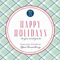 Simple Plaid Business Holiday Cards
