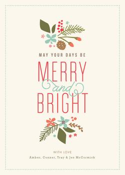 Brightly Merry Non-Photo Holiday Cards