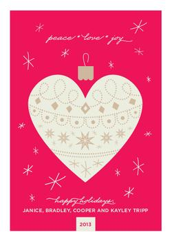 Swede Heart Non-Photo Holiday Cards