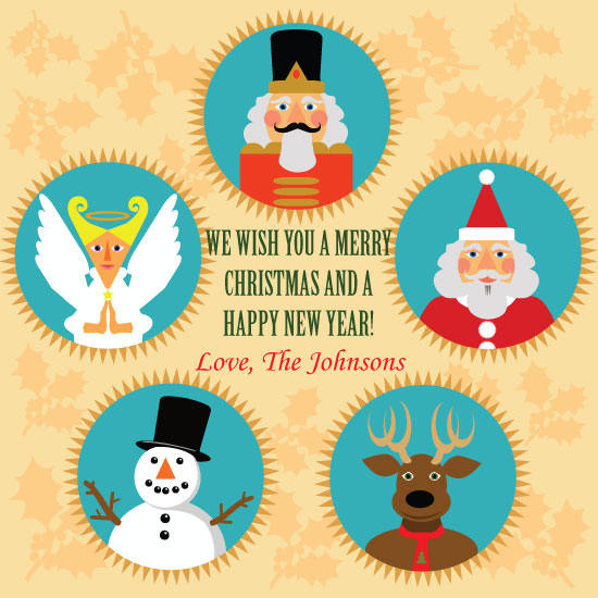 non-photo holiday cards - Holiday Characters by TeeEm