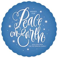 Peace Aglow Non-Photo Holiday Cards