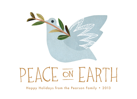 non-photo holiday cards - Dove and Branch by Laura Condouris