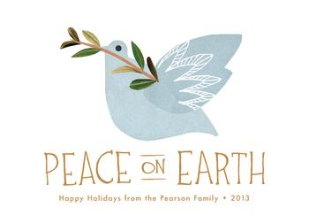 Dove and Branch Non-Photo Holiday Cards