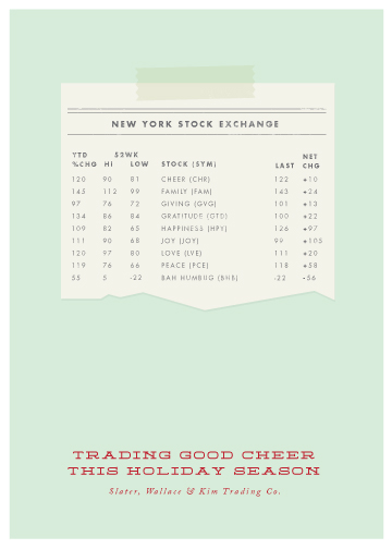 business holiday cards - Trading Good Cheer by Stacey Hill
