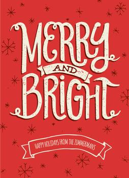 Merry & Bright Snowflakes Non-Photo Holiday Cards