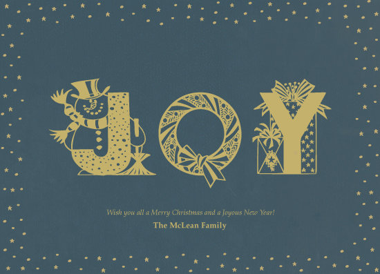 non-photo holiday cards - Joyous Year by Stellax Creative