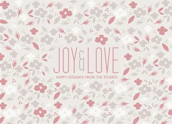 Floral Joy Non-Photo Holiday Cards