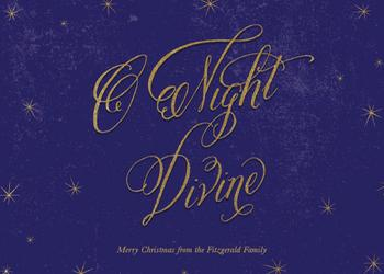 Night Divine Non-Photo Holiday Cards