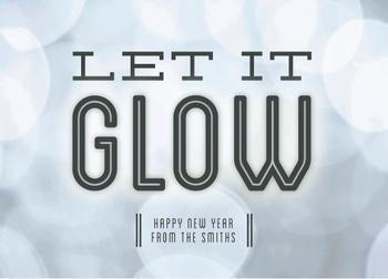 Let The New Year Glow Non-Photo Holiday Cards